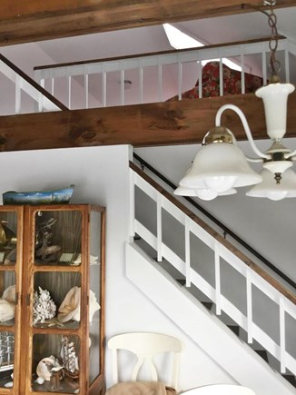 Eastham Cape Cod vacation rental - Looks up to loft that has 4 twin beds for the children!!