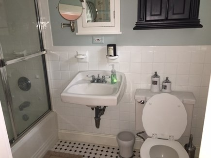 Harwich Cape Cod vacation rental - Master bath with shower/tub