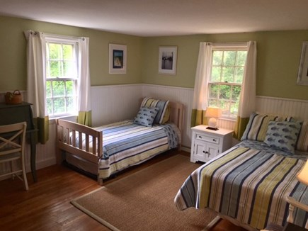 Harwich Cape Cod vacation rental - 3rd bedroom with full and 2 twins (trundled)