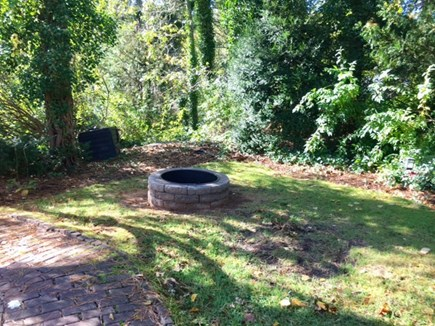 Harwich Cape Cod vacation rental - New fire pit. Patio also has gas grill and seating