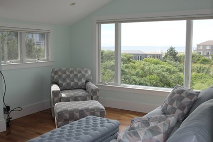 Truro Cape Cod vacation rental - Family Room with Bay and Sunset Views
