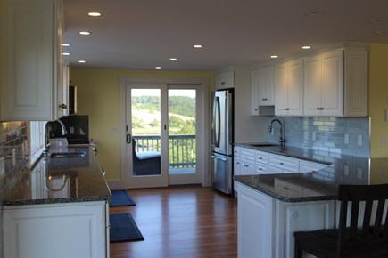 Truro Cape Cod vacation rental - Kitchen has a peninsula counter offering seating