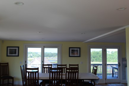 Truro Cape Cod vacation rental - Dining table easily seats everyone