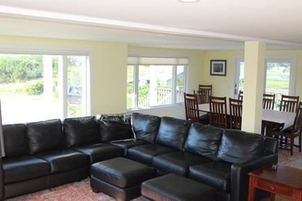 Truro Cape Cod vacation rental - Living Room to Dining area