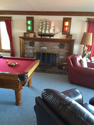 Bourne Cape Cod vacation rental - Rec/Family room w/ leather couch & chair