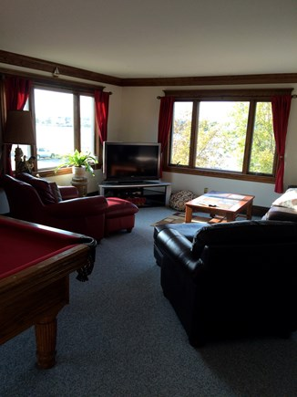 Bourne Cape Cod vacation rental - More Rec/Family room seating w/ flat screen TV