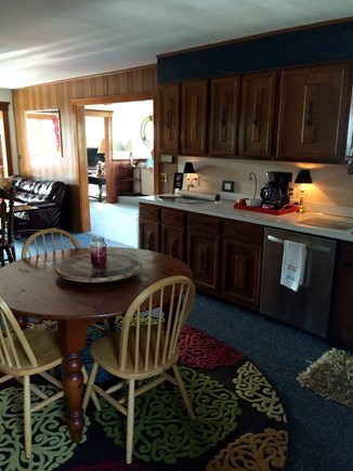 Bourne Cape Cod vacation rental - Open & airy eat-in kitchen w/ dishwasher & CCC view