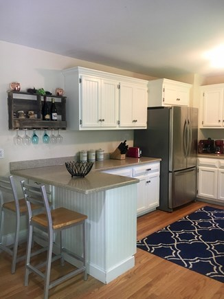 Eastham Cape Cod vacation rental - Kitchen/breakfast bar with stainless steel appliances