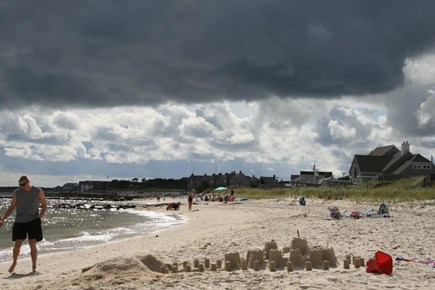 South Yarmouth Cape Cod vacation rental - South Middle Beach on a stormy day lots of beach activities