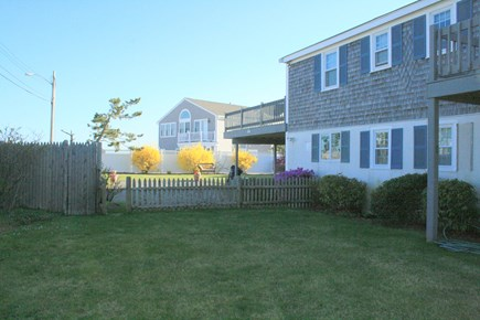 South Yarmouth Cape Cod vacation rental - Front yard to low fence