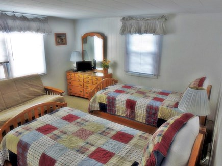 South Yarmouth Cape Cod vacation rental - Large twin bedroom, washer/dryer in closet. Full Futon and AC