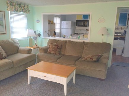 South Yarmouth Cape Cod vacation rental - Living Room with queen sleep sofa open concept to kitchen