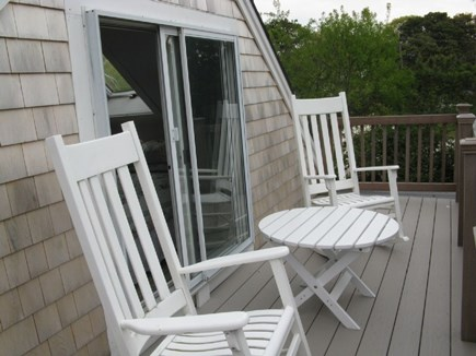 Chatham, Ridgevale Beach Cape Cod vacation rental - Upstairs deck off master bedroom. New chairs and table coming