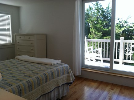 Chatham, Ridgevale Beach Cape Cod vacation rental - Master en suite bedroom with upstairs deck