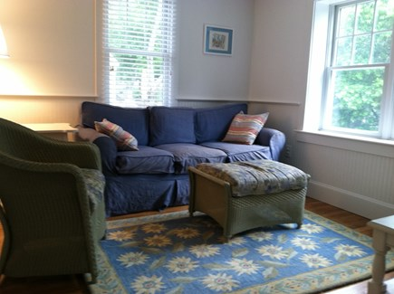 Chatham, Ridgevale Beach Cape Cod vacation rental - First floor den with flat screen TV, DVD and cable