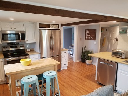 South Yarmouth Cape Cod vacation rental - Large eat-in kitchen includes all new stainless steel appliances