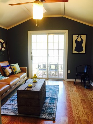 South Yarmouth Cape Cod vacation rental - Spacious Living Room with vaulted ceilings, glass doors to patio