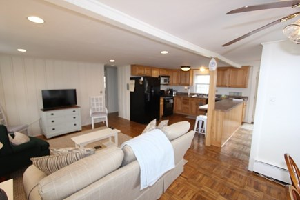 Plymouth MA vacation rental - Living Room to Kitchen