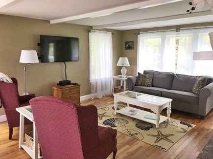 Chatham Cape Cod vacation rental - Spacious living room that opens to the dining and kitchen areas.