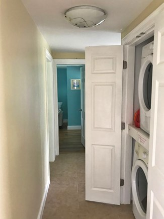 Chatham Cape Cod vacation rental - Upstairs hallway with full size washer and dryer.