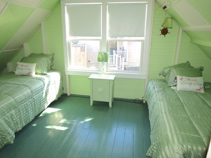 Brewster Cape Cod vacation rental - Third bedroom, this one with twins, is on the upper level.