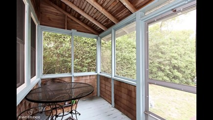Brewster Cape Cod vacation rental - New furniture and fresh paint coming for the screened porch.