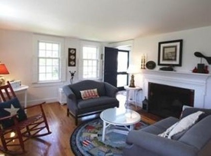 North Chatham Cape Cod vacation rental - Living area with fireplace