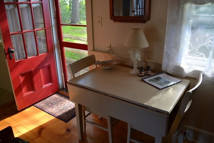 Dennis Port Cape Cod vacation rental - Table extends for larger family table.