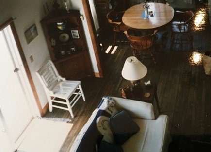 Wellfleet, Lieutenant Island Cape Cod vacation rental - View of the living room from the loft