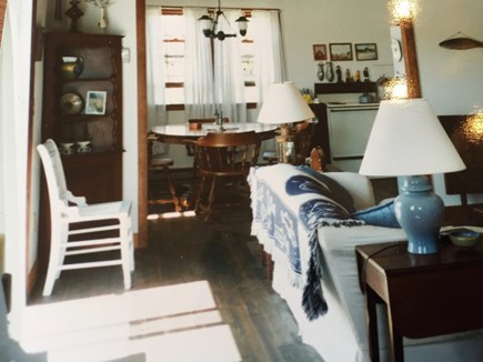 Wellfleet, Lieutenant Island Cape Cod vacation rental - Living room, looking towards the kitchen.