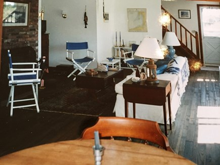 Wellfleet, Lieutenant Island Cape Cod vacation rental - View of the living room from the kitchen