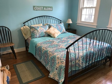 South Yarmouth Cape Cod vacation rental - Bedroom 2 - queen bed; spacious closet, dresser; overlooks garden