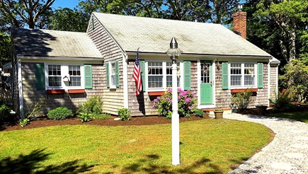 South Yarmouth Cape Cod vacation rental - Karen's Cape House (ID 28328) has flat front yard, paved driveway