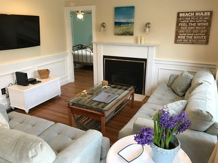 South Yarmouth Cape Cod vacation rental - Living Room: sofabed; flatscreen HD TV; love seat