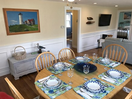 South Yarmouth Cape Cod vacation rental - Bright dining room comfortably seats 6 -- great for playing games