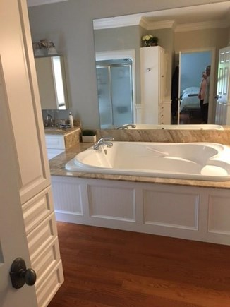 Brewster Cape Cod vacation rental - Master Bathroom, Tub, Shower and Water Closet