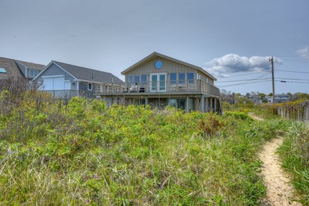 Sandwich Cape Cod vacation rental - Looking back the house from the beach side.