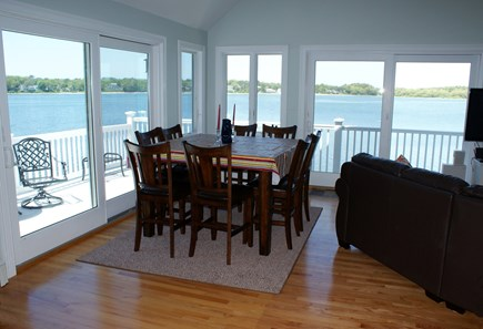 Bourne, Buzzards Bay Cape Cod vacation rental - Dining corner with water views.
