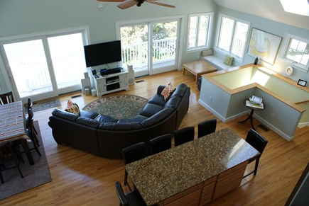 Bourne, Buzzards Bay Cape Cod vacation rental - Open Living/Kitchen/Dining with views.