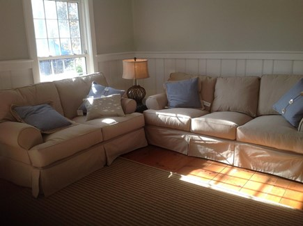 West Harwich Cape Cod vacation rental - Living Room with comfortable love seat and couch