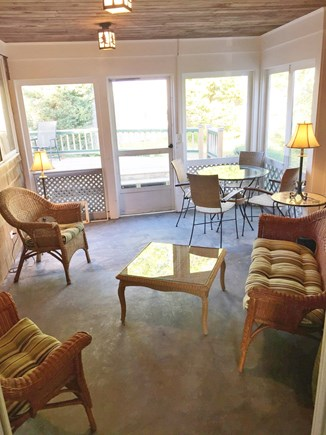 West Harwich Cape Cod vacation rental - Airy Screen Porch