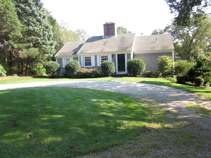 East Dennis Cape Cod vacation rental - Front of house with circular driveway
