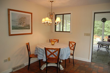 East Sandwich Cape Cod vacation rental - Kitchen table