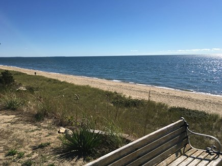 Mashpee, Popponesset Cape Cod vacation rental - Beach to left of steps