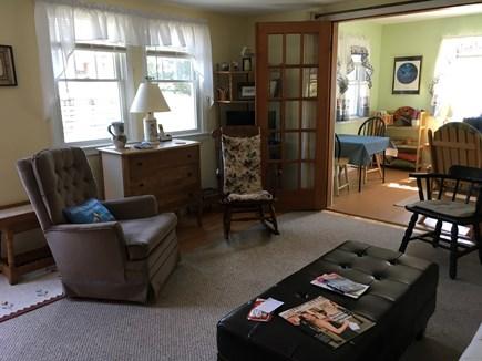 Mashpee, Popponesset Cape Cod vacation rental - Main room, TV behind Dutch Door