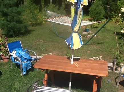 Mashpee, Popponesset Cape Cod vacation rental - Picnic table and hammock