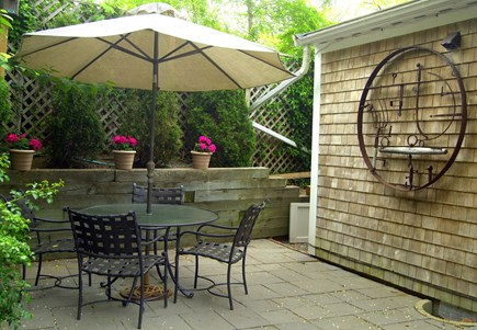 wellfleet Cape Cod vacation rental - Private Garden Patio