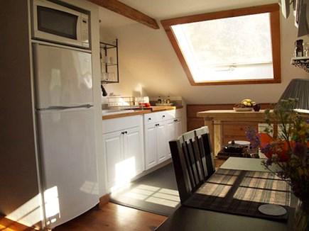 wellfleet Cape Cod vacation rental - Garret: 2nd Flr Kitchen - Apartment Size Refrigerator/Microwave
