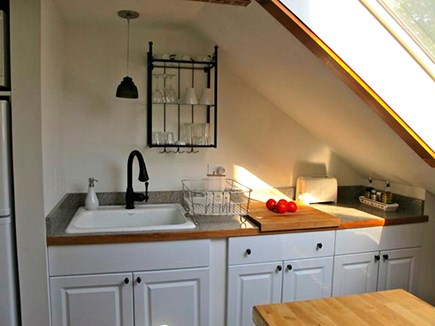wellfleet Cape Cod vacation rental - Garret: 2nd Flr Kitchen - Full Size Sink With Full Set Of Dishes