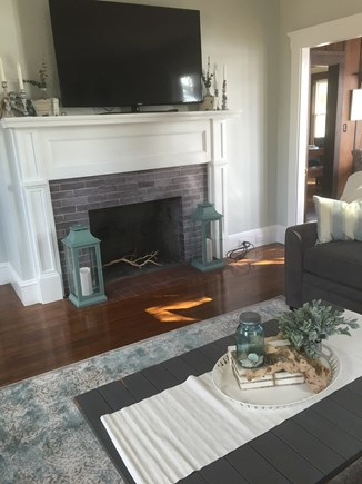 Bourne, Buzzards Bay Cape Cod vacation rental - Living room with queen pull out sofa bed